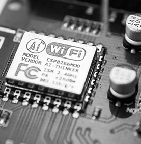 A wifi chip on a circuit board